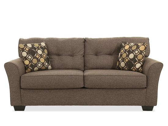 "Contemporary Button-Tufted 78"" Sofa in Slate"