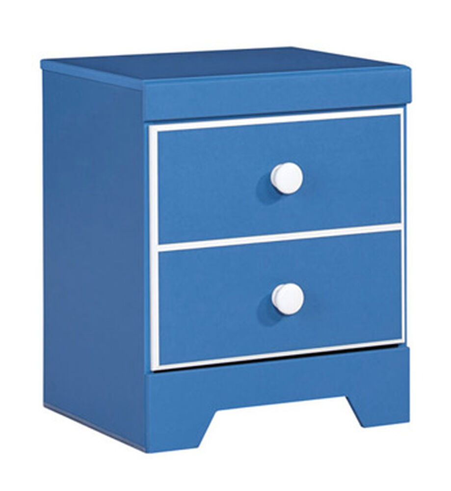 contemporary one drawer youth nightstand in light blue mathis brother furniture. Black Bedroom Furniture Sets. Home Design Ideas
