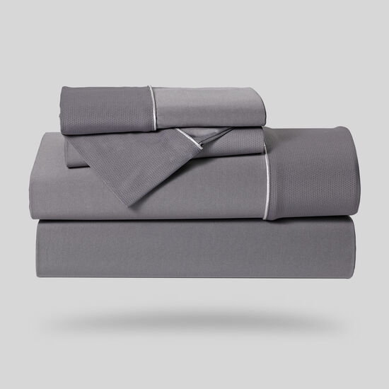 Five-Piece Dri-Tec Lite Queen Sheet Set in Grey