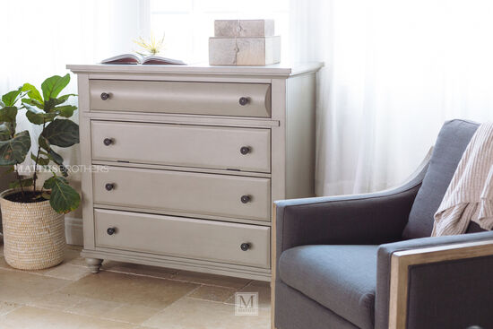 """42"""" Contemporary Four-Drawer Media Chest in Mineral Gray"""