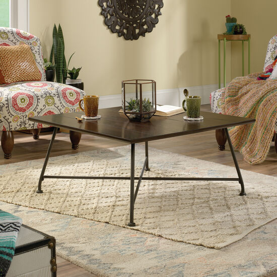Rectangular Contemporary Coffee Table in Chestnut Brown