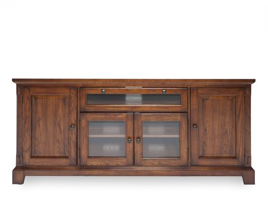 "32"" Glass-Door Media Console in Oak"