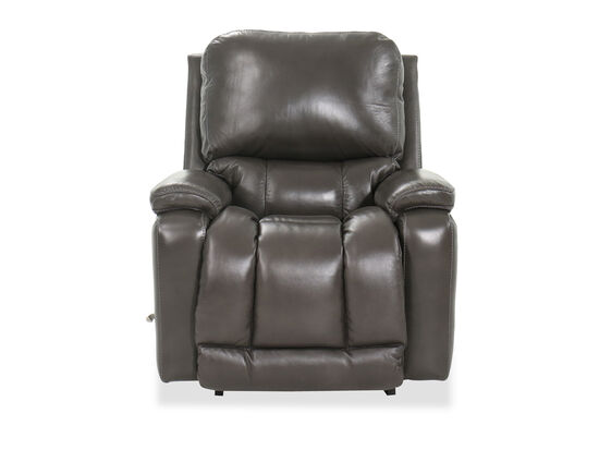 "39"" Leather Rocking Recliner in Black"