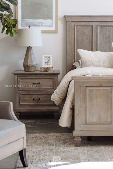 """29"""" Transitional Two-Drawer Nightstand in Dovetail Gray"""