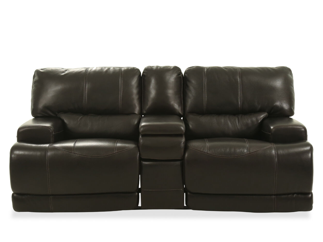 Power reclining traditional leather 80 loveseat in medium for Traditional loveseat