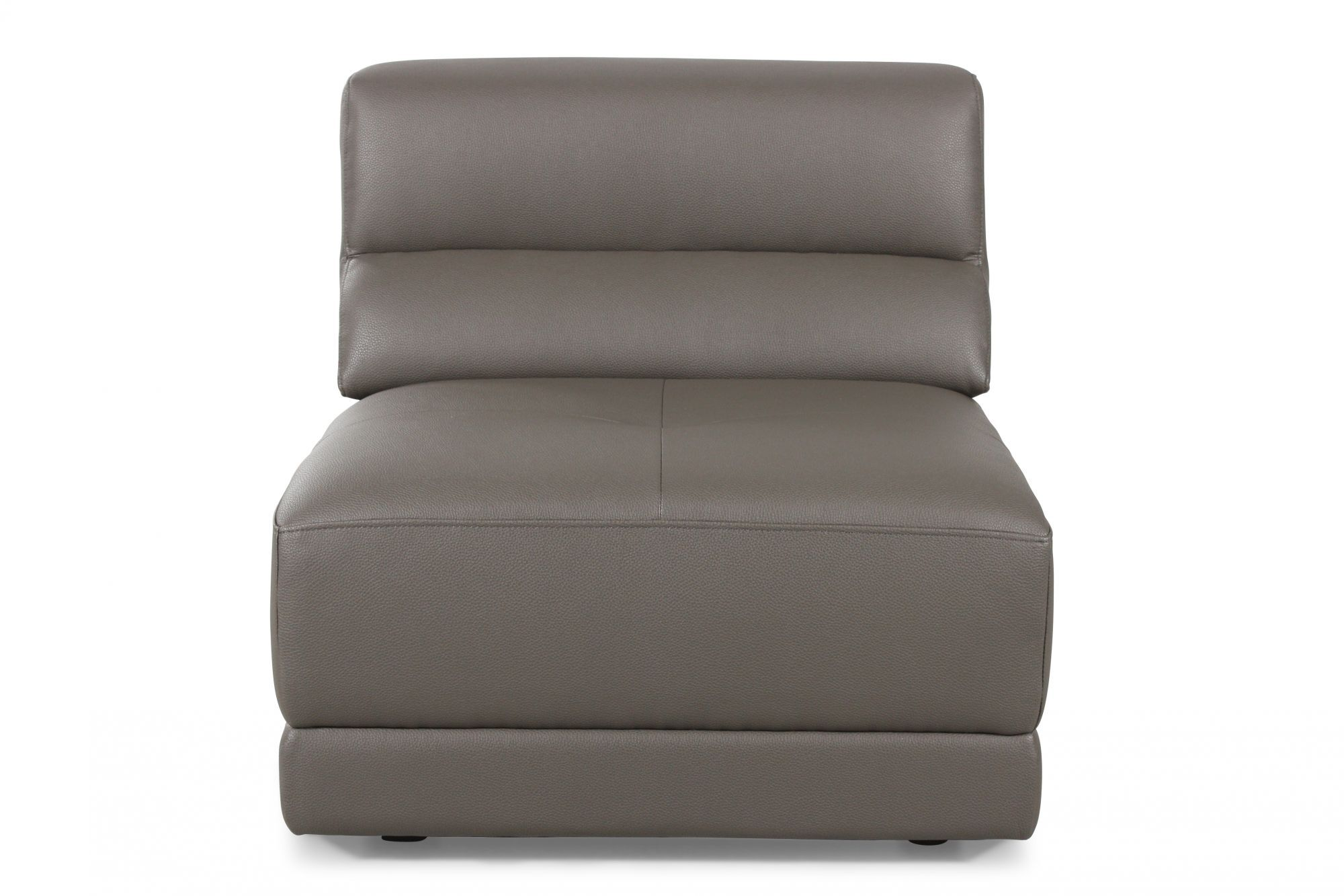 contemporary armless chair in dove gray mathis brothers furniture rh mathisbrothers com