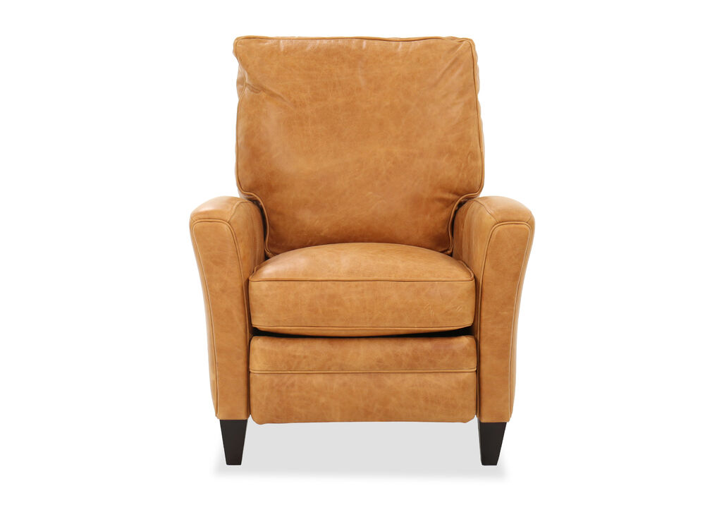 Transitional Pushback Recliner in Mahogany