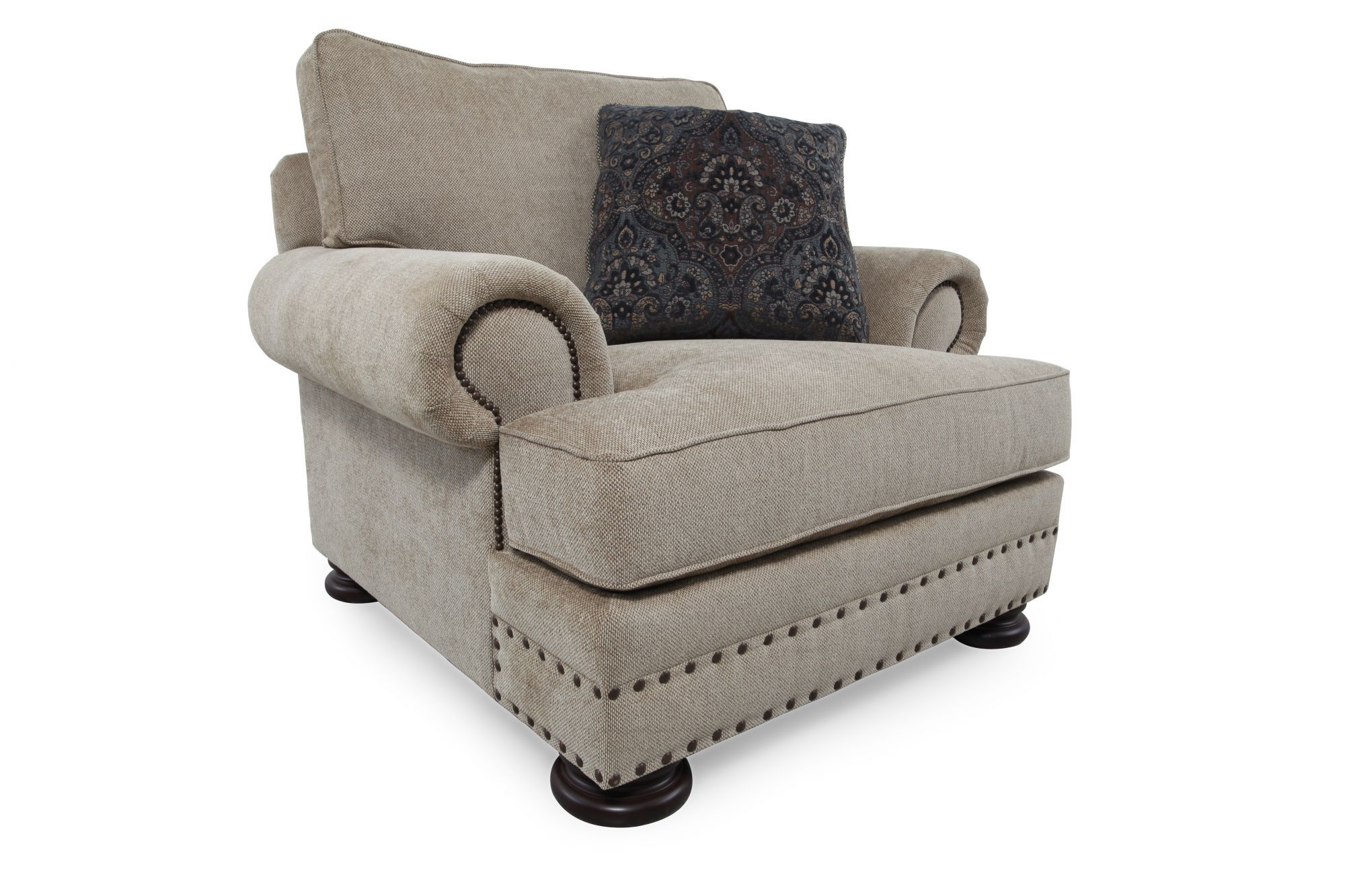Bon Nailhead Accented European Classic Chair In Beige