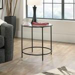 Round Contemporary Side Tablein Black