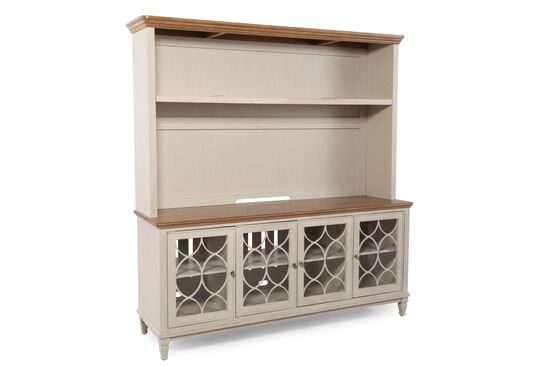 Four-Door Transitional Entertainment Center in Canvas