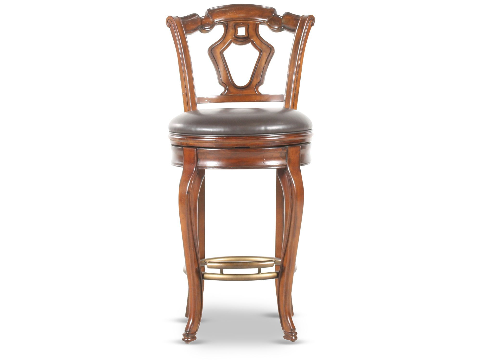 Traditional 45 Quot Swivel Bar Stool In Cherry Mathis