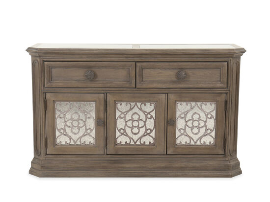 "62"" Traditional Three-Door Credenza in Cobblestone"
