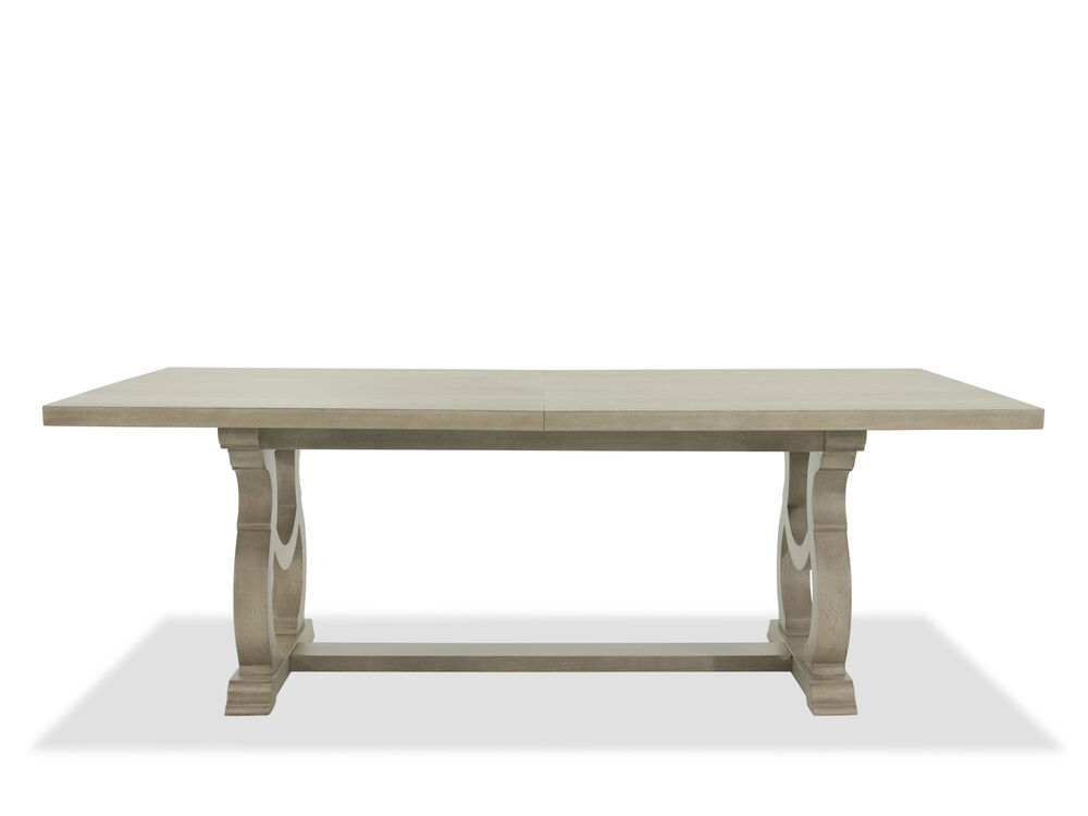 """Traditional 48"""" Rectangular Dining Table in Gray Cashmere"""