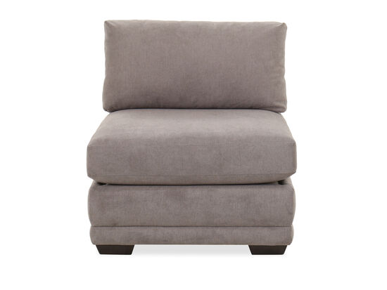 Casual 34'' Armless Sectional Chair in Platinum