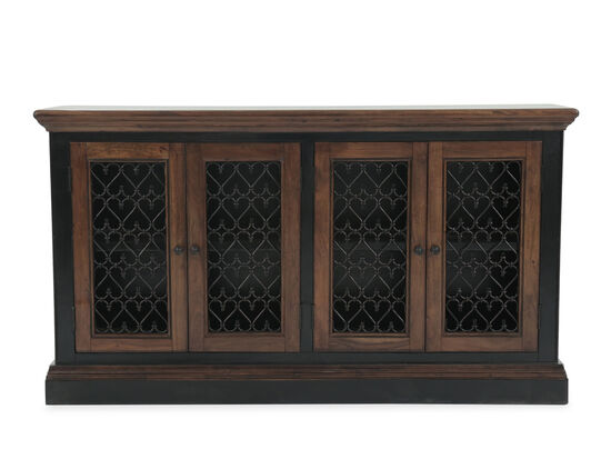 "65"" Filigree Door Server in Dark Brown"