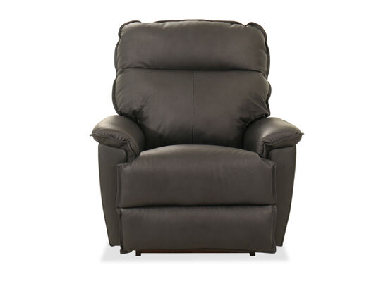 """39"""" Leather Power Rocker Recliner in Charcoal"""