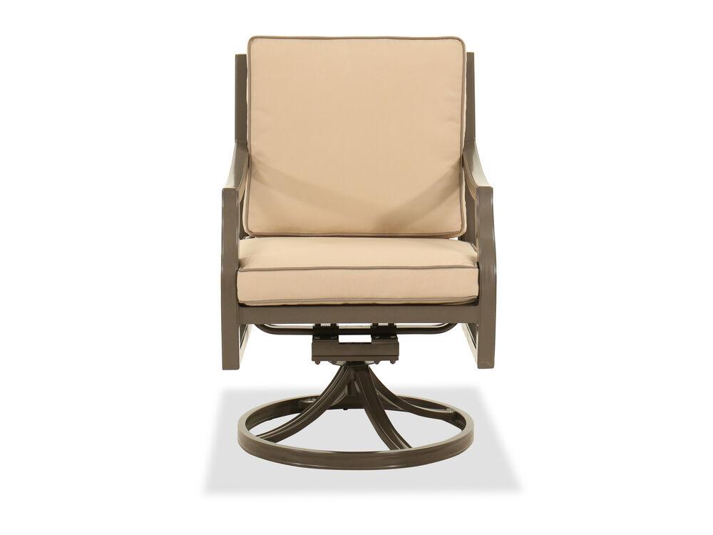 Traditional Swivel Rocker Chair in Brown