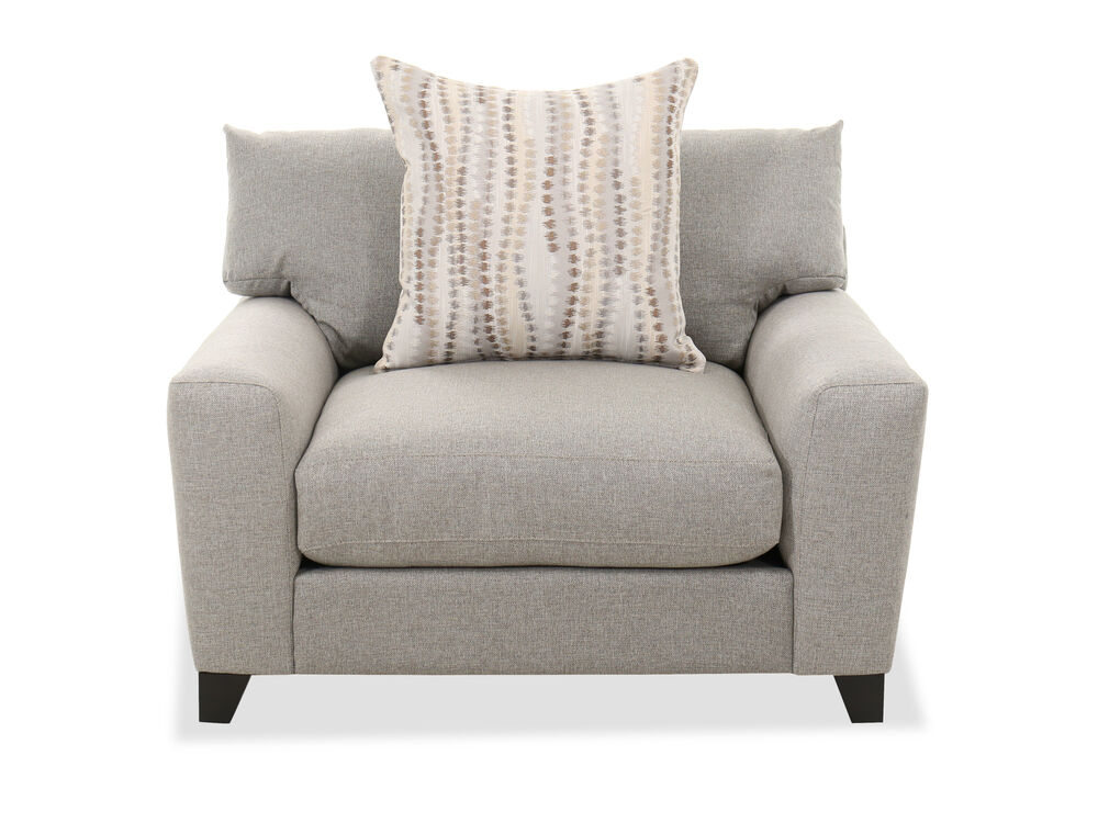 """Casual 49"""" T-Back Chair in Gray"""