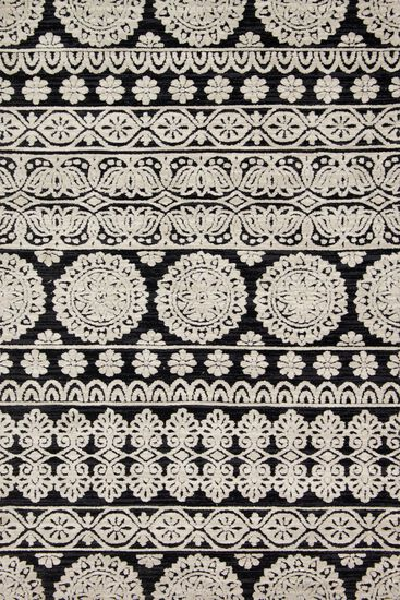 "Contemporary 2'-3""x3'-9"" Rug in Black/Silver"