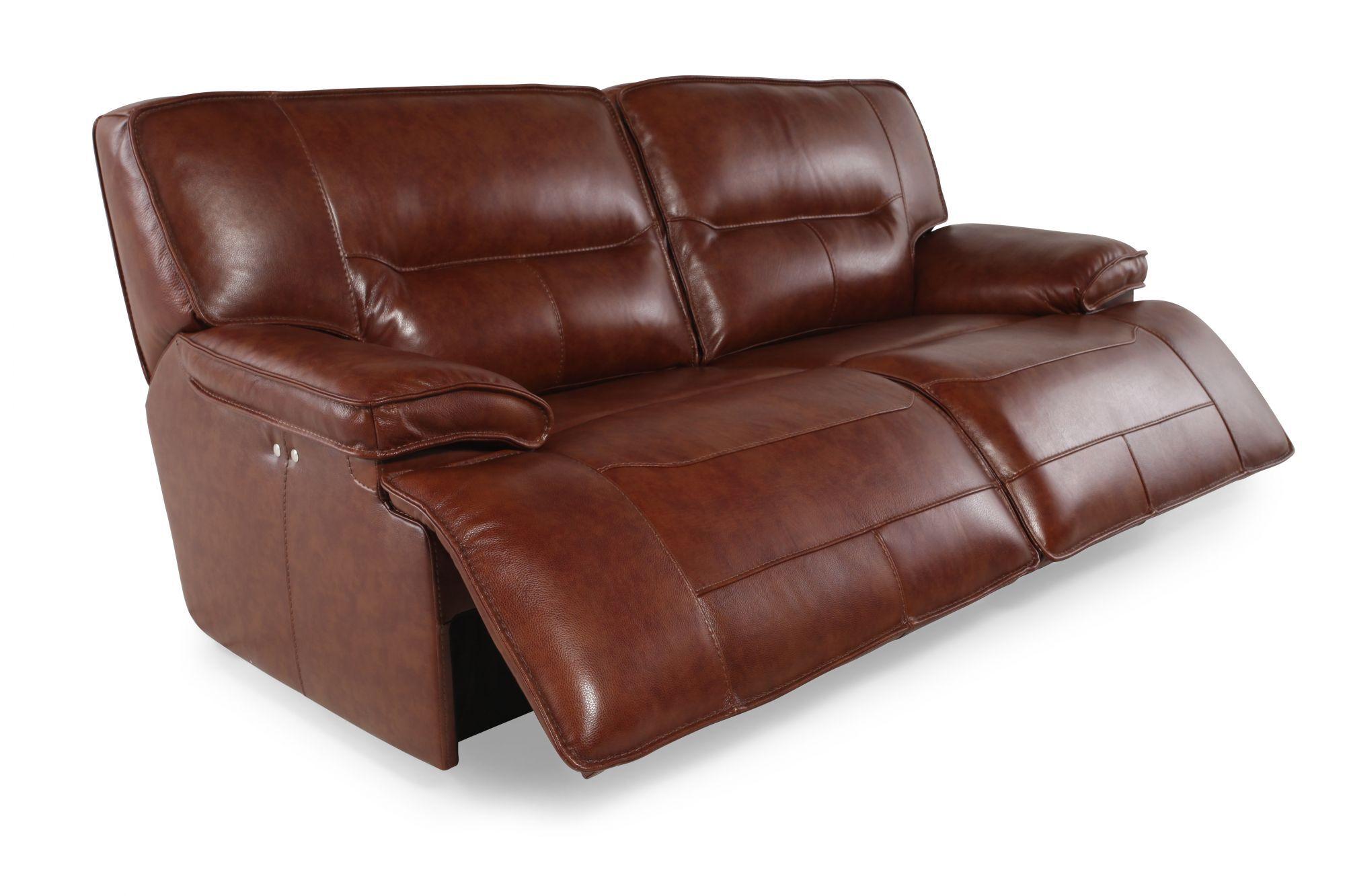 simon li stampede chestnut power reclining sofa - Simon Li Furniture