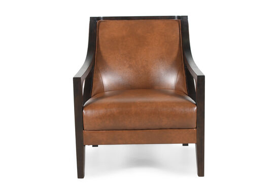 "Contemporary 27.5"" Chair in Saddle Brown"