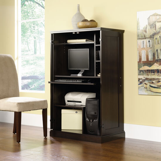 "52"" Transitional Computer Armoire in Cinnamon Cherry"