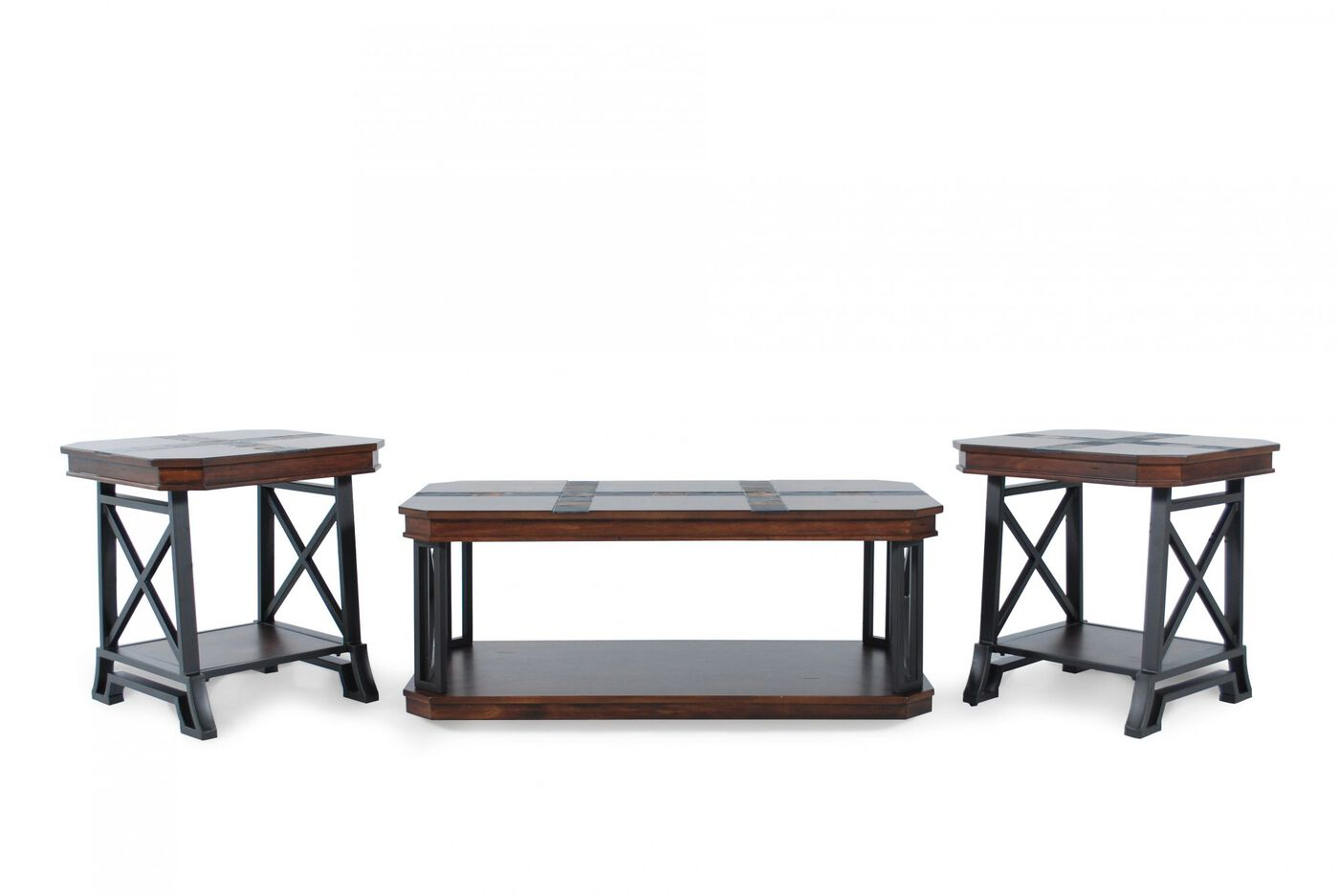 Three-Piece Coffee Table Set in Brown | Mathis Brothers Furniture