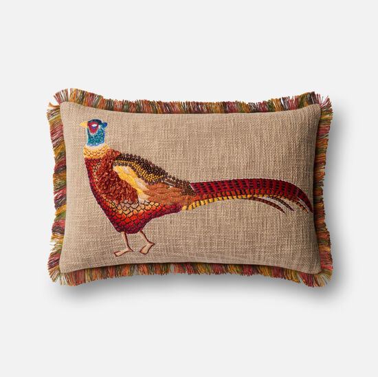 """13""""x21"""" Pillow Cover Only in Beige/Multi"""