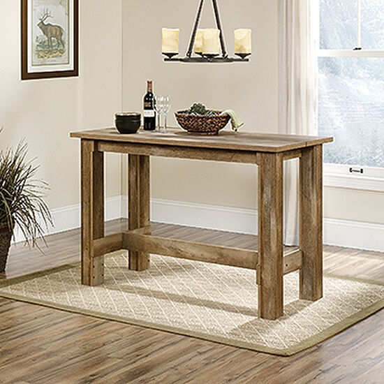 "Contemporary 26"" Rectangular Counter Table in Craftsman Oak"