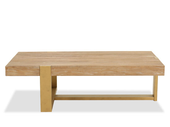 Casual Rectangular Cocktail Table in Brown