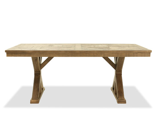 Rectangular Casual 76'' Dining Table in Light Brown