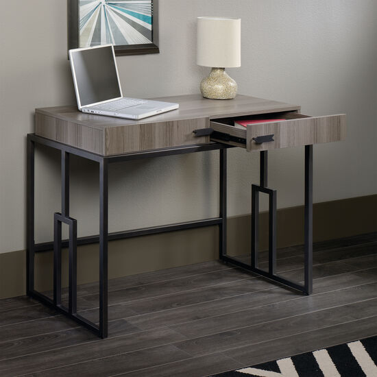 "41.5"" Modern Two-Drawer Writing Desk in Diamond Ash"