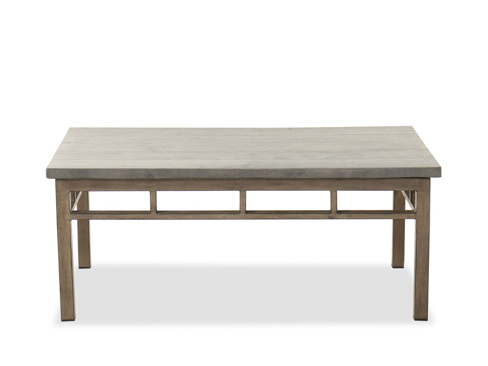 Casual Aluminum Coffee Table in Brown