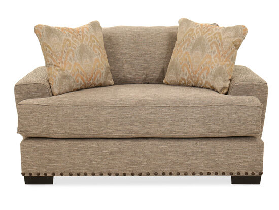 Nailhead-Trim Casual Oversized Chair in Brown