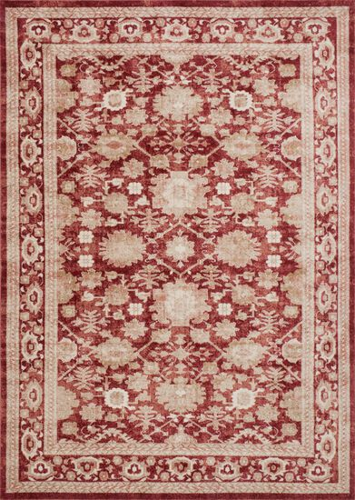"Traditional 12'-0""x15'-0"" Rug in Crimson"
