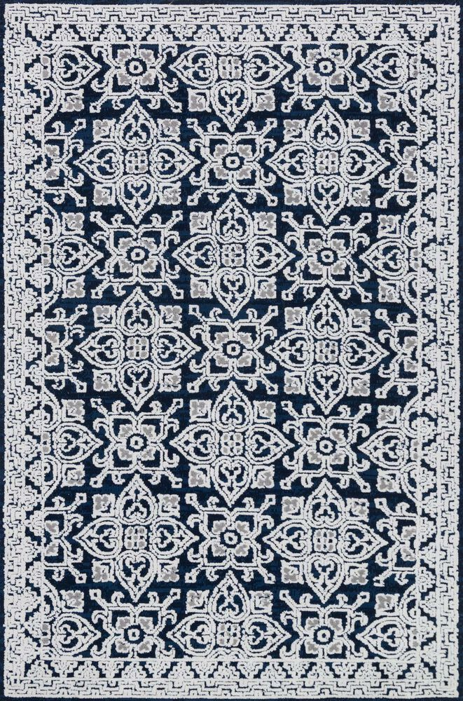 Contemporary Rug in Midnight/Silver