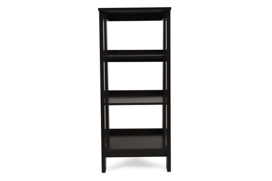 Three-Shelf Casual Open Bookcase in Dark Espresso