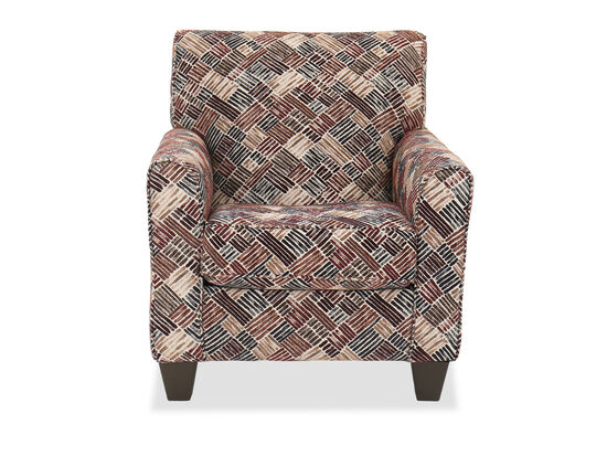 """34"""" Contemporary Patterned Accent Chair"""