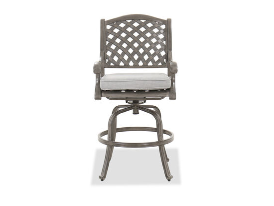 Aluminum Counter Stool in Gray