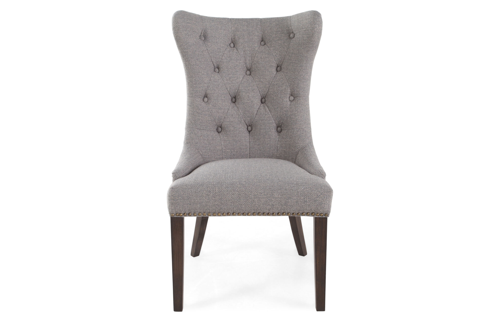 Button Tufted Back 23 Quot Dining Chair In Gray Mathis