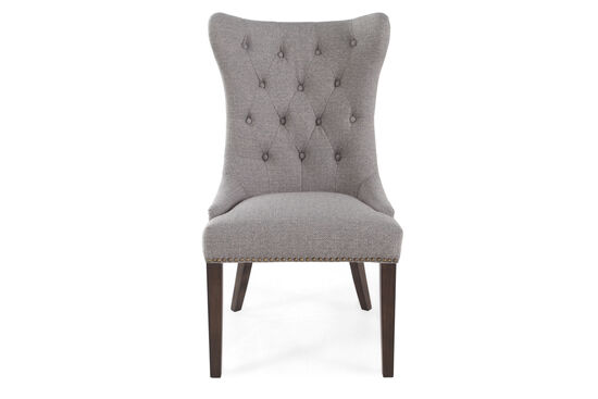 """Button-Tufted Back 23"""" Dining Chairin Gray"""