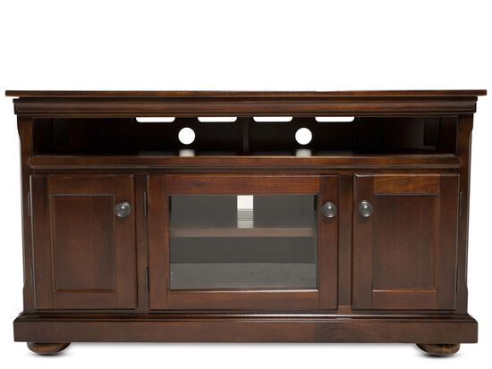 "30"" Three-Door Casual Entertainment Console in Burnished Brown"
