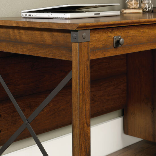 "53"" Transitional Three-Drawer Desk in Washington Cherry"