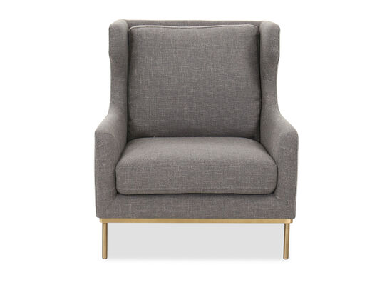 Contemporary Wingback Chair in Gray