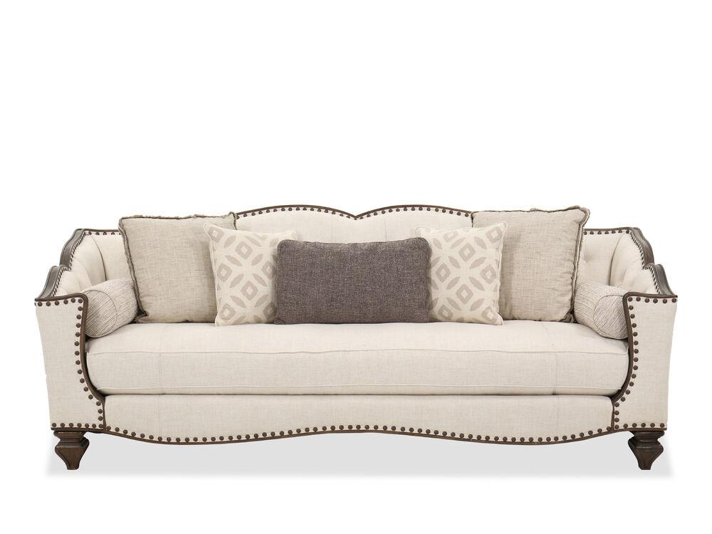 Traditional Single Cushion Sofa In