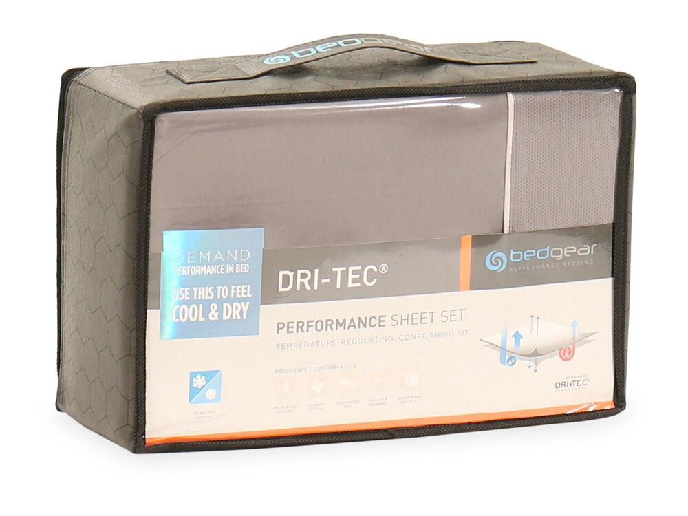 Three-Piece Dri-Tec Performance Sheet Set in Gray