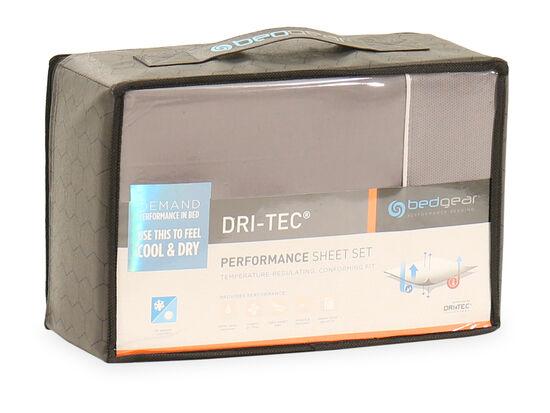 Three-Piece Dri-Tec Twin Performance Sheet Set in Gray