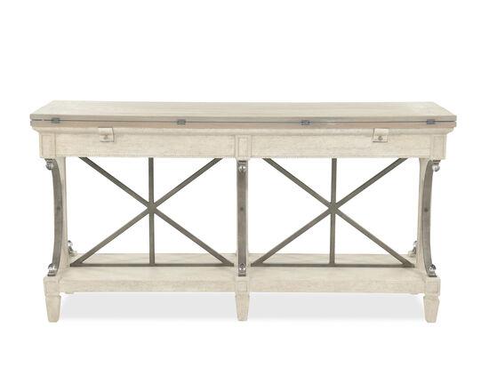 Flip Top Contemporary Sofa Table in Cream
