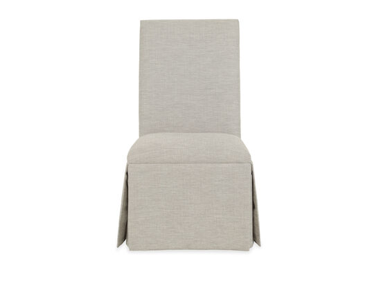 """Contemporary 23"""" Skirted Side Chairin Beige"""