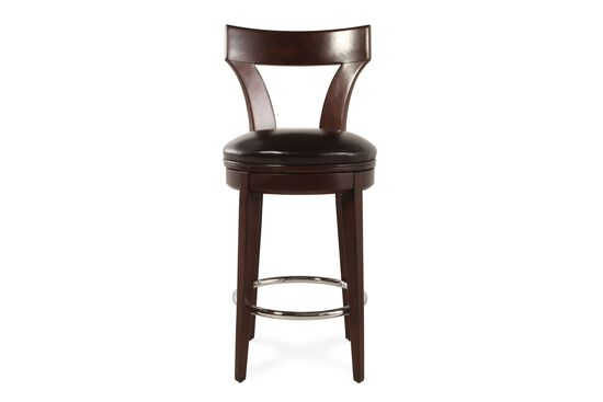 "Leather 47"" Bar Stool in Dark Brown"
